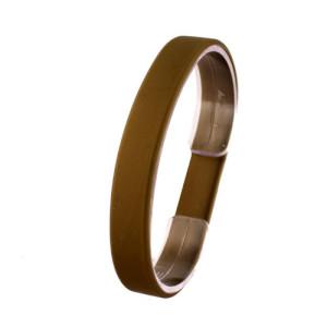 Коричневый силиконовый браслет