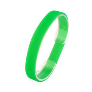 Зеленый силиконовый браслет