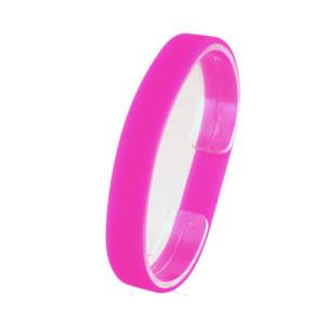 Розовый силиконовый браслет