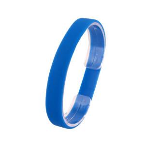 Синий силиконовый браслет