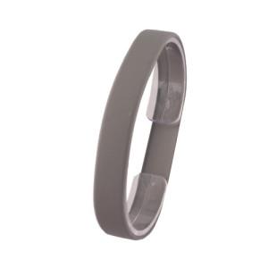Серый силиконовый браслет