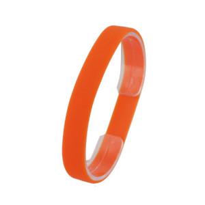 Оранжевый силиконовый браслет
