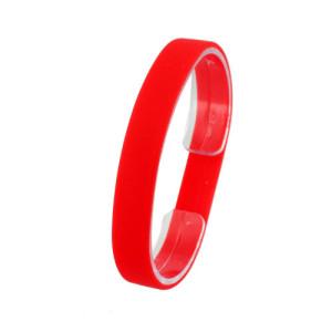Красный силиконовый браслет