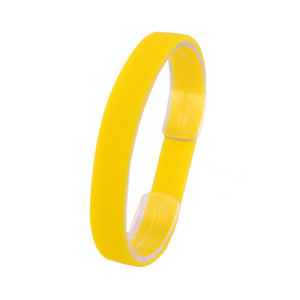 Желтый силиконовый браслет