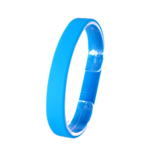Голубой силиконовый браслет