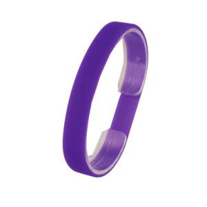 Фиолетовый силиконовый браслет