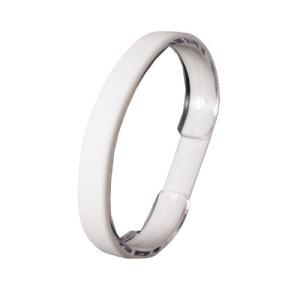 Белый силиконовый браслет